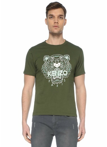 Kenzo Polo Yaka T-shirt Haki